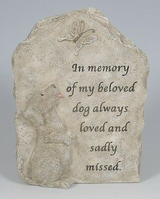 In Memory of my Beloved Dog Memorial Plaque Grave Ornament