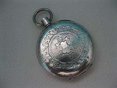 CONTINENTAL SILVER .935 POCKET WATCH CASE FOR SPARES/REUSE, 27 g.
