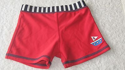 Mini Mode 12-18 months SWIMMING SHORTS Red Boat Holiday Swim Trunks Boys Boots