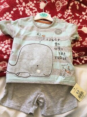 Baby Boy Shorts and T Shirt 0-3months