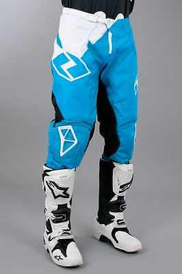 One Industries Atom Vented Wedge MX Pants ~ Cyan, Size: 26 34 36 ~ 50158-037-034
