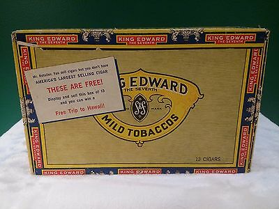 KING EDWARD IMPERIAL CIGAR BOX Vintage The Seventh Collectible Cigars EMPTY Used