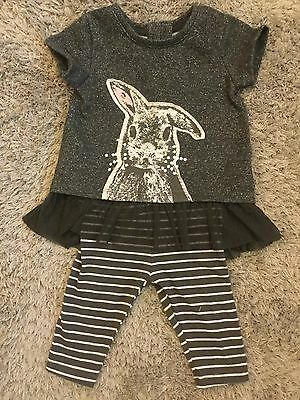 Next Girls Bunny Rabbit Outfit Age 3-6 Months Excellent Condition