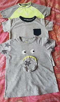 Next baby boy's pack of 3 t-shirts Size 18 - 24 months Colour Grey/yellow