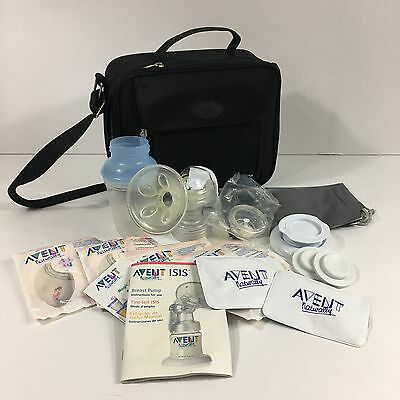 Avent Naturally Isis Manual Breast Pump - Ice Packs and Insulated Shoulder Bag