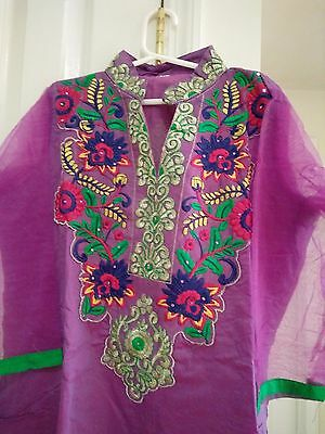 Indian Bollywood Eid Kurti Designer Women Ethnic Dress Gown Tunic Pakistani 001