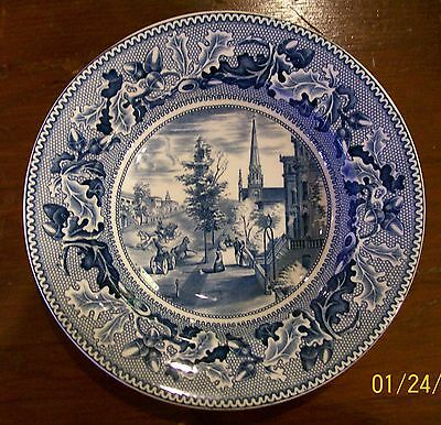 JOHNSON BROS HISTORIC AMERICA RIMMED SOUP BOWL (s) - Blue - WALL STREET