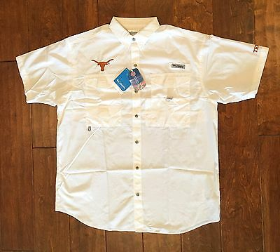 Columbia Men's NCAA University of Texas (UT) Bonehead Short Sleeve PFG Shirt