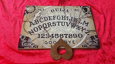 Classic Large Ouija Board Game & Planchette & Instructions halloween Pentagrams