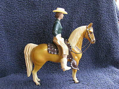 Rare Hartland 800 Series Blue/Green Jade Cowgirl on Palomino Excellent Cond!