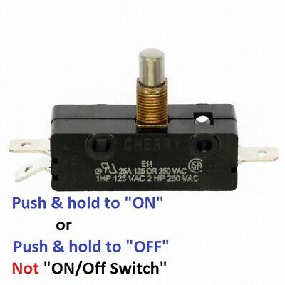 SNAP SWITCH * SPDT * 25 AMP * 125-250V * Single Pole; Metal; E14 Cherry