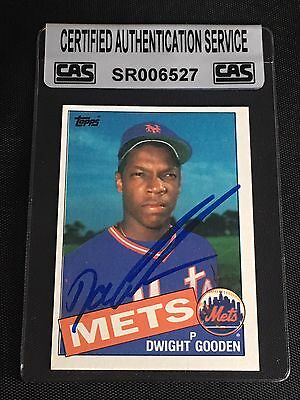 1985 Topps Dwight Doc Gooden 620 Rookie Card Autographed