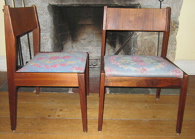 Mid Century Modern JENS RISOM WALNUT DINING SIDE CHAIRS