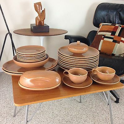 Vtg Russel Wright Iroquois Ripe Apricot Cantaloupe Set Of 27 Lot Dishes Bowl Cup