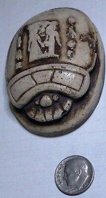 Beetle Scarab Natural Carved Stone Souvenir Egyptian Statue