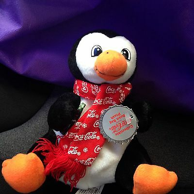 Coca-Cola Collectible Bean Bag Plush Penguin New with Tags