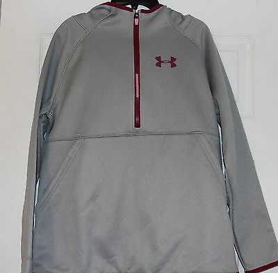 NWT! Under Armour Gray Girls Storm Water Resistant Loose Half ZipHoodie,Size-YXL