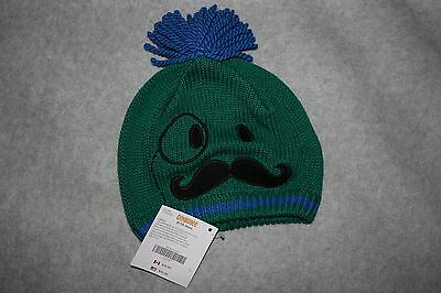 New Baby Boy Gymboree Mr Magician Mustache Knit Hat 1 6 12 Mo