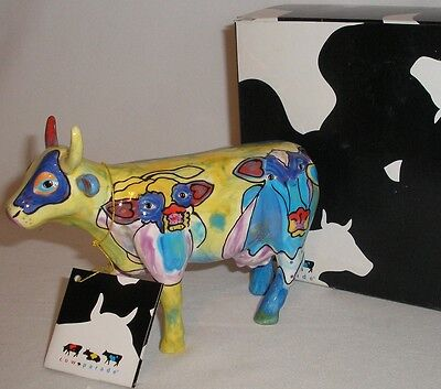 Cow Parade - The Many Faces Of Moo -  Cow Figurine - #7333 Mint In Box