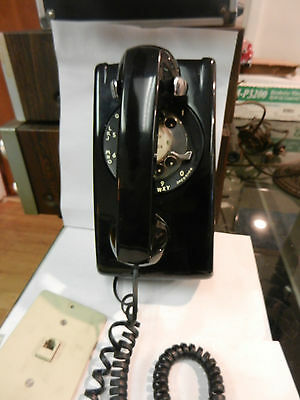Vintage Western Electric Bell South Black Rotary Dial Wall Telephone w/Handset