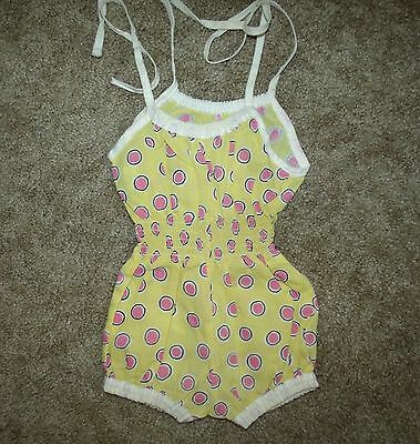Girls Vintage Sunsuit/romper, Animal Crackers, Size; 12 Mos.