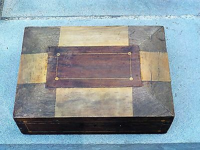 Old Antique wood / veneer box in rough condition for restoration