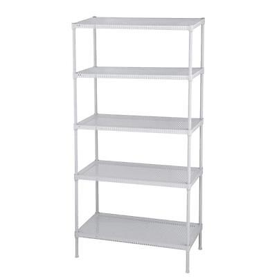 Edsal Bookcases Perforated 71 in. H x 35 in. W x 18 in. D 5-Tier Steel Shelving