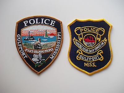 2 Gulfport MS Police Patches