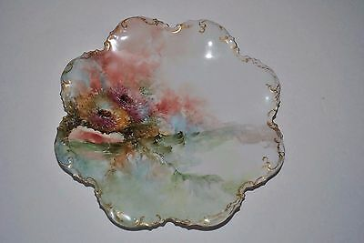 """ANTIQUE GDA  FRANCE LIMOGE FLORAL PLATE Approx 8 5/8"""""""