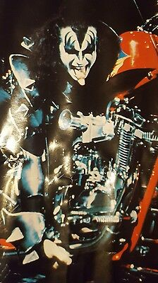KISS GENE SIMMONS Chopper Motorcycle #14-530 1977 Ancoin Poster 27 x 20