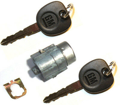 NEW Cadillac/Chevy GM OEM Tailgate Door Key Lock Cylinder W/2 Logo Keys 706597