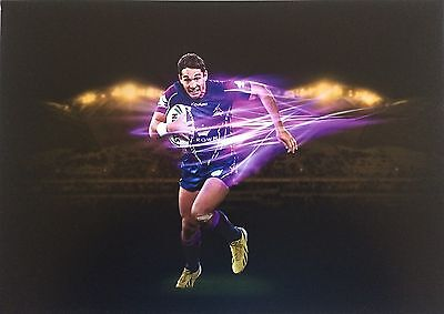 Nrl Billy Slater Action Poster - Melbourne Storm
