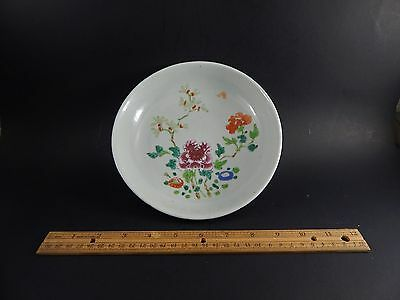 Antique Chinese Export Famille Rose Saucer Dish with Bat Yongzheng  C.1730