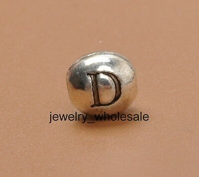 """15pcs Tibetan Silver Charm Letter """" D """" Spacer Beads Jewellery Findings 6X7MM"""