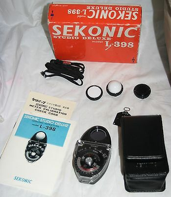 Sekonic Studio Deluxe L-398 Photo Photography Camera Light Meter in Box - VGUC