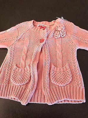 Ollie's Place- Girls Pink Knit Cardigan. Size 00. New with tags. Great Price.