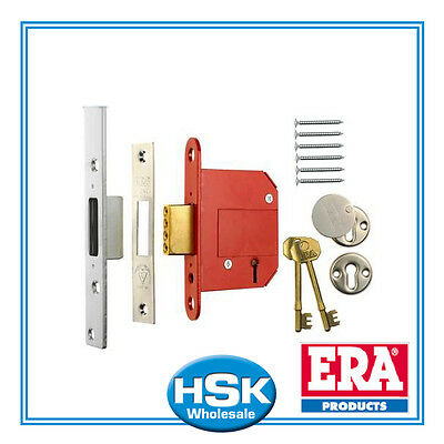 "ERA 261-61 - Fortress - BS 5 Lever Deadlock (67mm) - 2.5"" - Chrome Finish"