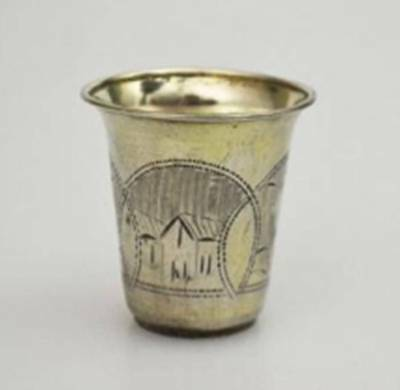 Antique Russian Imperial Empire 84 Silver Shot Cup - 1870-1880
