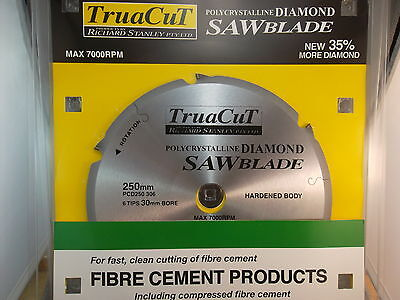 FIBRE CEMENT DiamondSAW BLADE-Cuts Hardie Prods-250mm