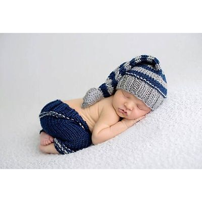 Newborn Baby Girls Boys Crochet Knit Costume Photo Photography Prop Outfits /25