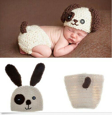Newborn Baby Girls Boys Crochet Knit Costume Photo Photography Prop Outfits /22