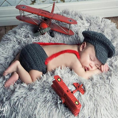 Newborn Baby Girls Boys Crochet Knit Costume Photo Photography Prop Outfits /21