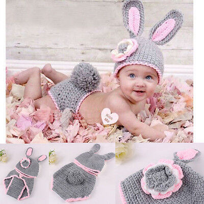 Newborn Baby Girls Boys Crochet Knit Costume Photo Photography Prop Outfits /23