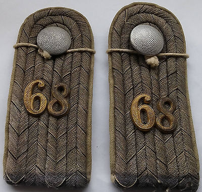 Leutnant shoulder boards for the 68th (6th Rhenish) Infantry.  Price Reduced.