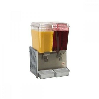 NEW Grindmaster Crathco D25-3 Double 5 Gal Bowl SS Cold Beverage Dispenser