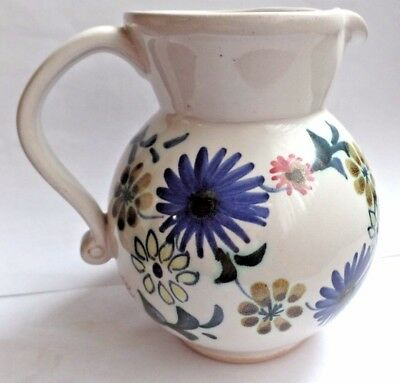 Vintage Hand Painted Retro Rye Pottery Jug 1960s