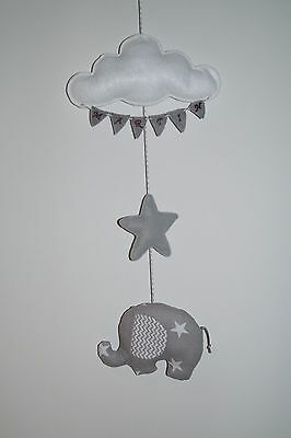 Personalised cloud elephant baby nursery wall decor, baby shower in Yellow grey