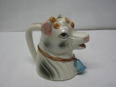 Vintage Ceramic Cow Creamer Made in Japan Handpainted