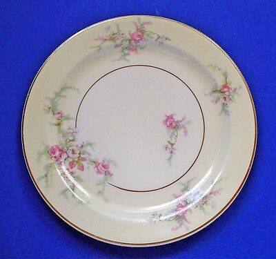 "Taylor Smith & Taylor China MOSS ROSE 6"" PLATE B&B Dessert Vintage 1940s TS&T"