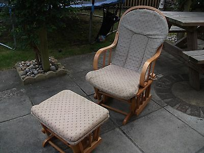 nursing rocking chair with rocking stool and removeable covers
